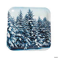 Winter Retreat Dinner Plates