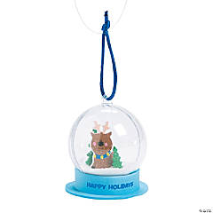 Winter Snow Globe Ornament Craft Kit