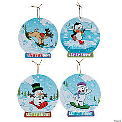 Winter Snow Globe Sticker Scene Ornaments