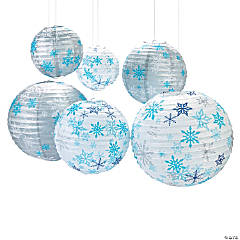 Winter Snowflake Hanging Paper Lanterns