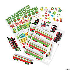 Winter Train Self-Adhesive Shapes