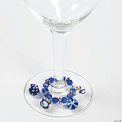 Winter Wine Glass Beaded Charms Idea