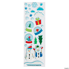 Winter Wonderland Puffy Stickers