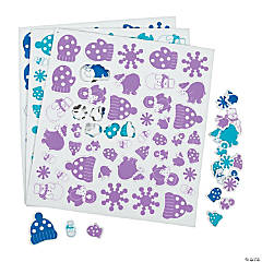 Winter Wonderland Self-Adhesive Foam Shapes