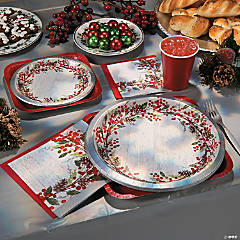 Winter's Wreath Banquet Plates