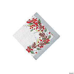 Winter's Wreath Beverage Napkins