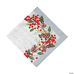 Winter's Wreath Luncheon Napkins