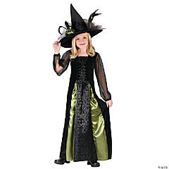 Witch Goth Maiden Girl's Costume