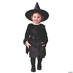 Witch Spider Web Glitter Toddler Large Costume