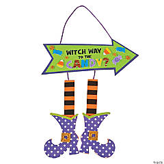 Witch Way to the Candy Sign Craft Kit