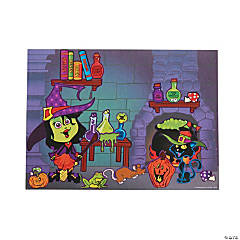 Witch's Lair Sticker Scenes
