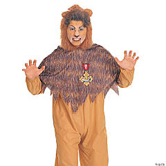 Wiz of Oz Cowardly Lion Adult Men's Costume