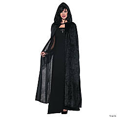Women's Black Hooded Cloak Costume