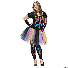 womens funky punk bones costume - Cheapest Place To Buy Halloween Costumes