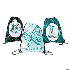 Women's Health Awareness Drawstring Backpacks
