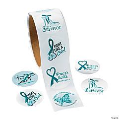 Women's Health Awareness Sticker Rollss