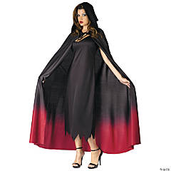 Women's Ombre Hooded Cape Costume