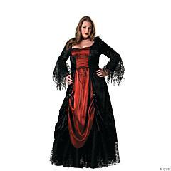 Women's Plus Size Gothic Vampira Costume
