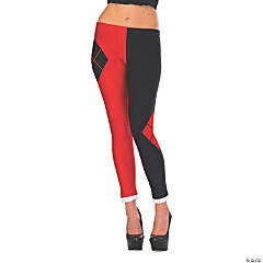 Women's Red & Black Harley Quinn Leggings