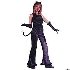 Women's Velvet Fantastic Feline Costume