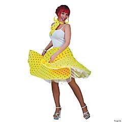 Women's Yellow & Orange Sock Hop Skirt Costume