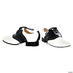 Women's Black & White Saddle Shoes