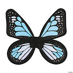 Women's Blue & Teal Satin Butterfly Wings