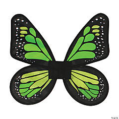 Women's Green & Lime Green Satin Butterfly Wings