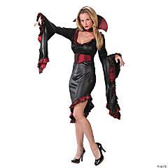 Women's Vampiress Ruffle with Collar Costume - Standard