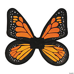 Women's Yellow & Orange Satin Butterfly Wings
