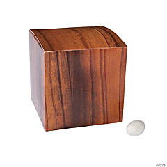 Wood Grain Print Favor Boxes