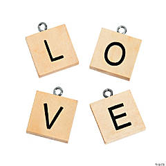 Wood Letter Love Charms