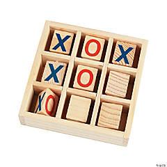 Wood Tic-Tac-Toe Game