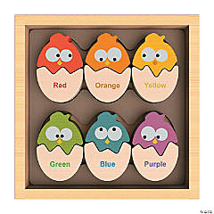 Wooden Color 'N Eggs Playset