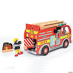 Wooden Fire Engine Set