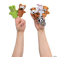 Woodland Stuffed Animal Finger Puppets