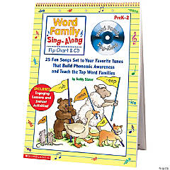 Word Family Sing-Along Flip Chart and CD, Grades K-2