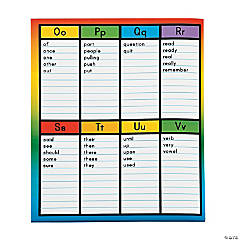 Word Wall Pocket Folders