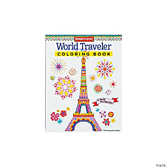 World Traveler Adult Coloring Book