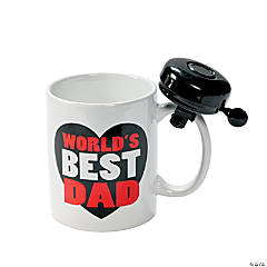 World's Best Dad Mug with Bell