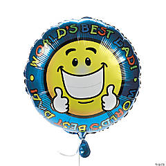 """World's Best Dad"" Mylar Balloons"