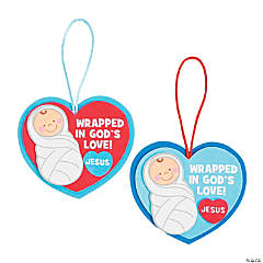 Wrapped in God's Love Christmas Ornament Craft Kit
