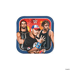 WWE Square Dessert Paper Plates