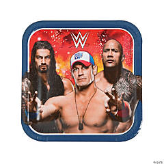 WWE Square Dinner Paper Plates