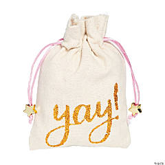 Yay Canvas Drawstring Treat Bags