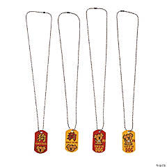 """Year of the Dog"" Dog Tag Necklaces"