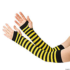 Yellow & Black Team Spirit Arm Sleeves