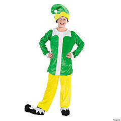 Yellow & Green Elf Costume for Kids