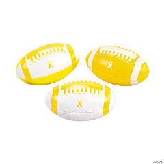 Yellow Awareness Ribbon Footballs