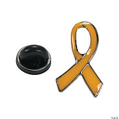 Yellow Awareness Ribbon Pins